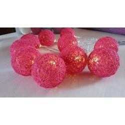 Guirnaldas esferas hilo